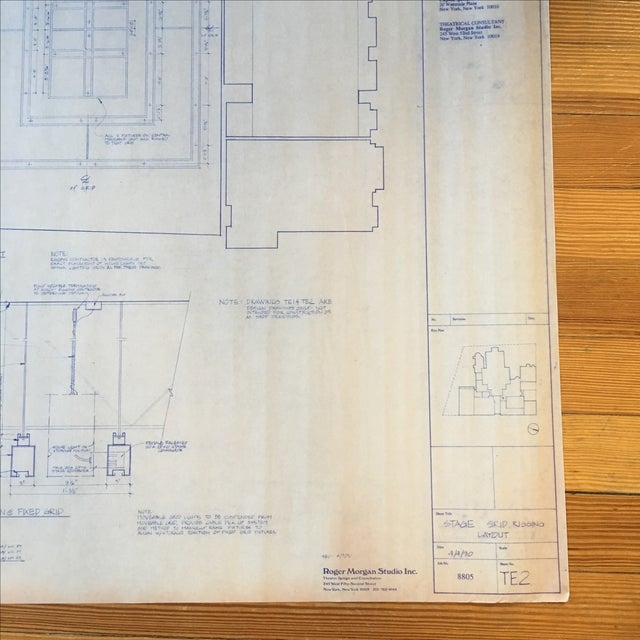 Nyc grace church blueprint chairish nyc grace church blueprint image 3 of 6 malvernweather Gallery