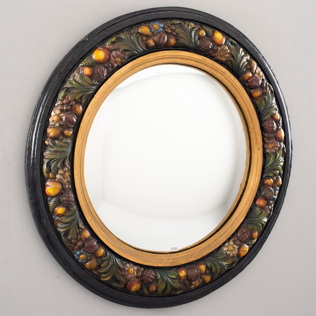 Large Round French Barbola Mirror For Sale - Image 10 of 10