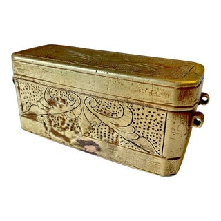 Antique Indochinese Bronze Betel Nut Box For Sale