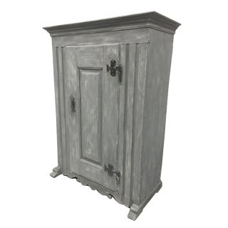 French Antique Painted Cabinet For Sale
