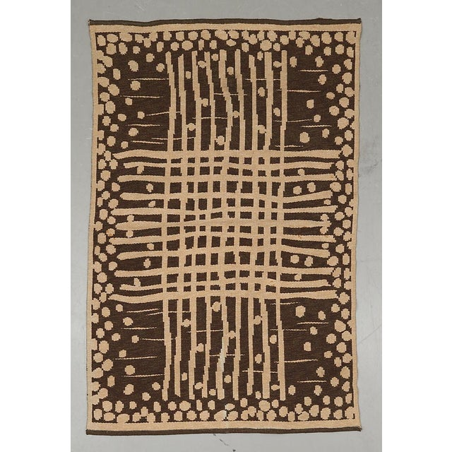 """Vintage Double Sided Swedish Rollakan Carpet - 4'1"""" X 6'3"""" - Image 2 of 7"""