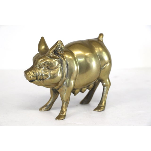Brass Mother Pig Figurine - Image 3 of 5