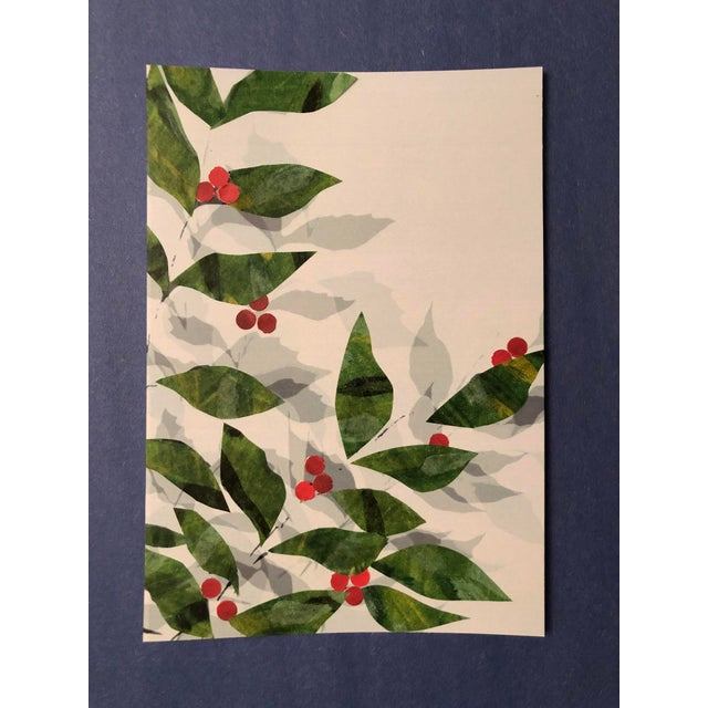 Boho Chic Leaves and Berries Original Mixed Media Art by Nancy Smith For Sale - Image 3 of 5