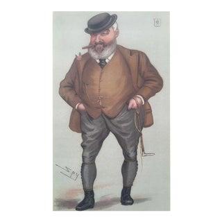"Original 1877 Vanity Fair Sir John Dugdale Astley Print ""The Mate"" by Leslie Ward"