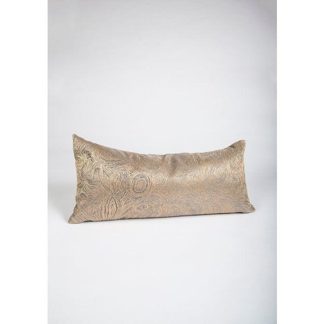 Iridescent Agate Lumbar Pillow For Sale - Image 9 of 9