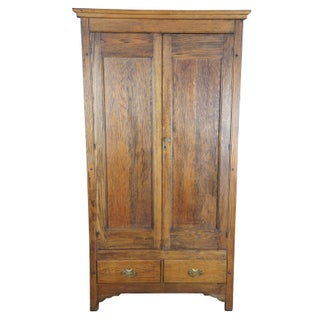19th Century Antique Oak Armoire Preview