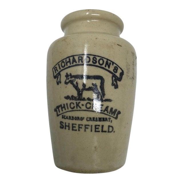 Richardson's Thick-Cream Ironstone Advertising Jar For Sale