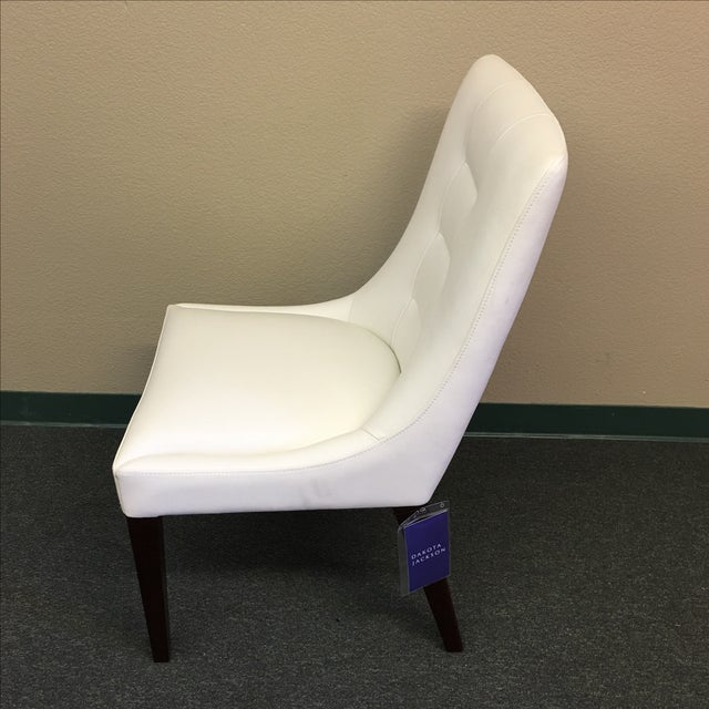 Dakota Jackson White Leather Marina Odile Chair - Image 3 of 10