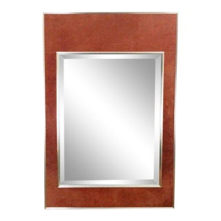 1950s Vintage La Barge Suede Mirror For Sale