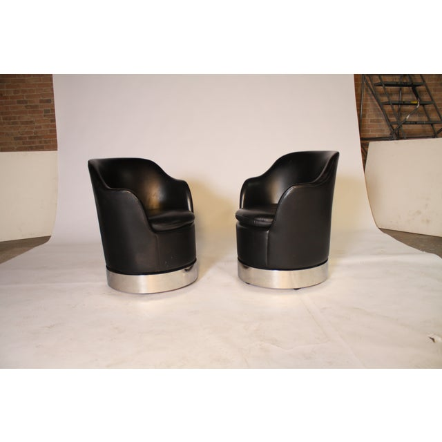 Mid-Century Modern Phillip Enfield Mid-Century Swivel Chairs - a Pair For Sale - Image 3 of 5