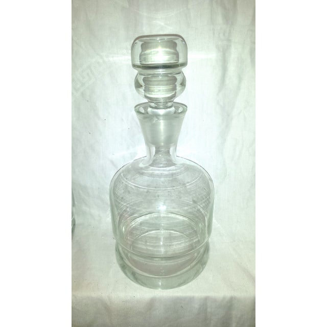 1920s Clear Glass Bar Decanters - A Pair - Image 3 of 10