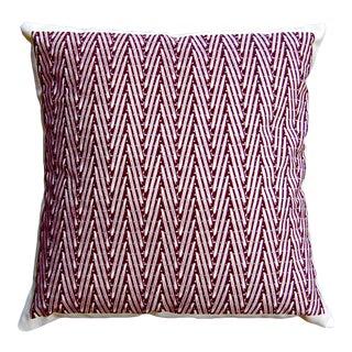 """""""Chevrons"""" Plum Color Pillow For Sale"""