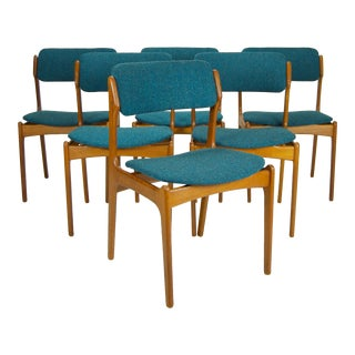 1960s Vintage Erik Buch for O.D. Møbler Danish Dining Chairs - Set of 6 For Sale