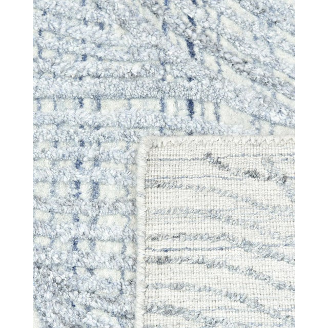 Shiva, Contemporary Modern Hand Loomed Area Rug, Mist, 9 X 12 For Sale - Image 4 of 10