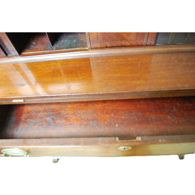 Federal Mahogany Tambour Secretary Chest - Image 7 of 8