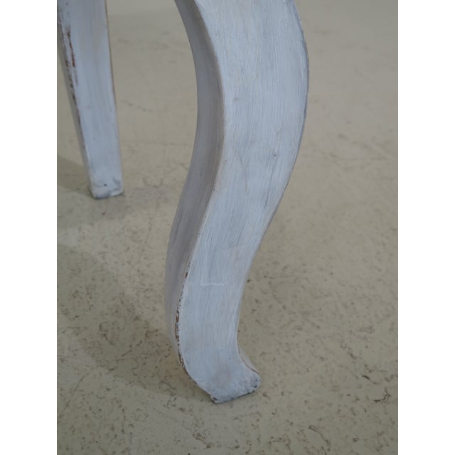 Shabby Chic Country White 3 Drawer Console Table Server For Sale In Philadelphia - Image 6 of 10