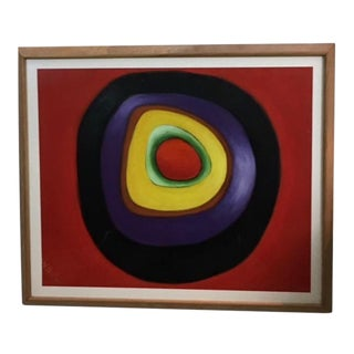 """W. Hall """"The Circle"""" Original Oil Signed Painting For Sale"""