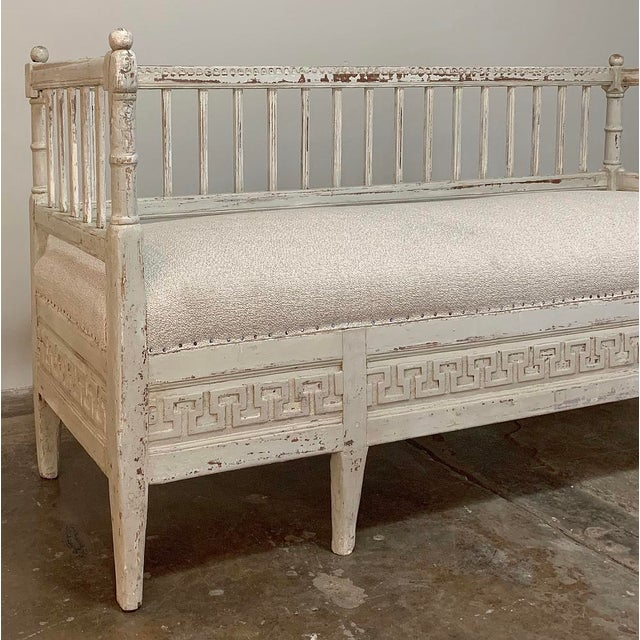 19th Century Swedish Painted Day Bed ~ Bench For Sale - Image 12 of 13