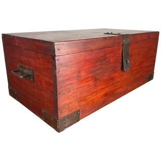"Classic Roycroft ""Goodie"" Box Mahogany and Hammered Metal For Sale"