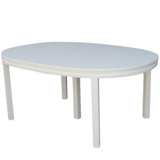 Mid-Century White Lacquer Dining Table For Sale