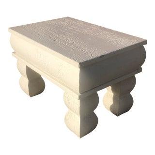 1980's Postmodern Plaster/Wood Side Table For Sale