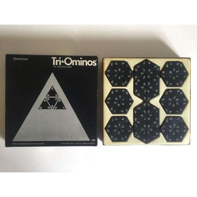 "Cardboard Vintage 1970's Pressman "" Tri Ominoes "" Game Boxed Set For Sale - Image 7 of 8"