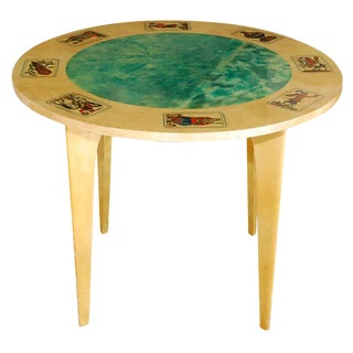 1950s Aldo Tura Game Table For Sale
