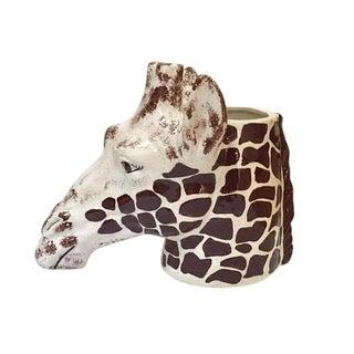 "Mid Century Modern Ceramic Giraffe Planter 14"" Safari Vase"