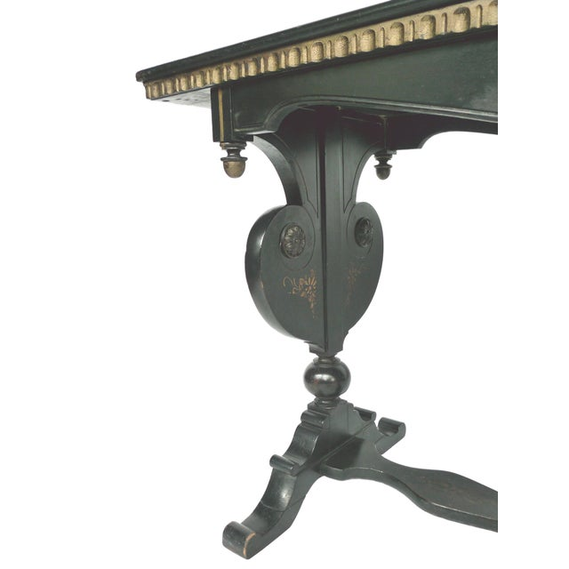 Chinoiserie Decorated Wooden Console Table - Image 7 of 10