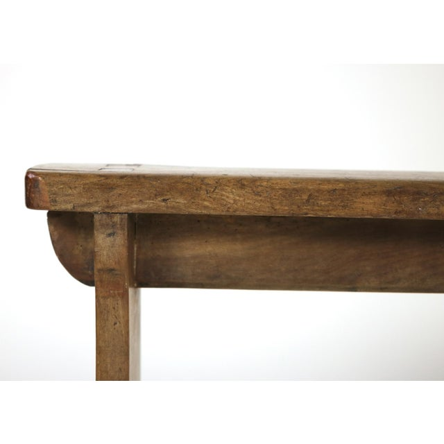 1880s English Narrow Fruitwood Bench For Sale - Image 11 of 13