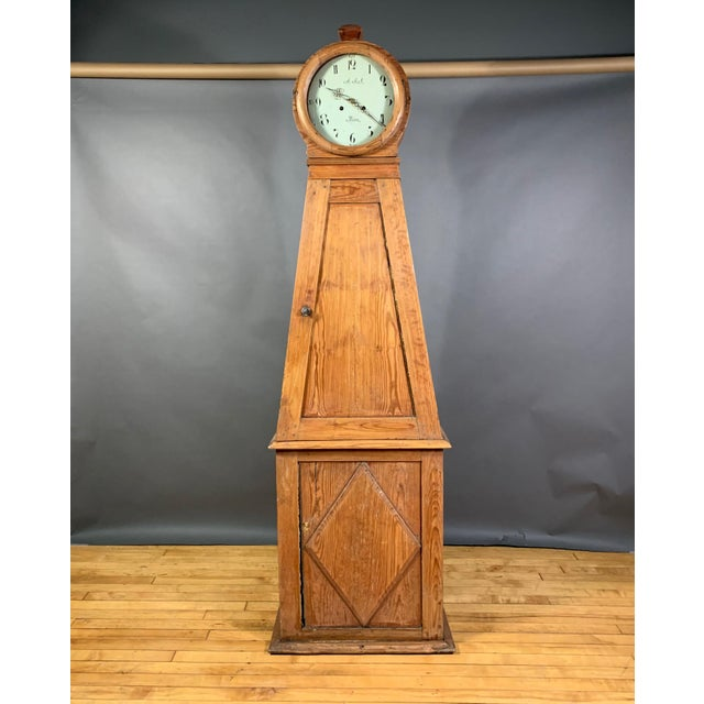 Gustavian 1810 Mora Longcase Pinewood Clock, Sweden For Sale - Image 13 of 13