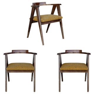 James Mont Style Asian Inspired Dining Chairs - Set of 3
