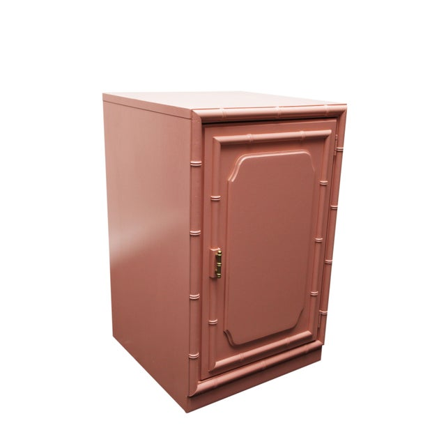 Coral Faux Bamboo Cabinet - Image 3 of 3