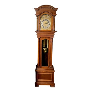 """Antique Waterbury Grandfather Clock - """"801 Hall Chime Clock"""" Model For Sale"""