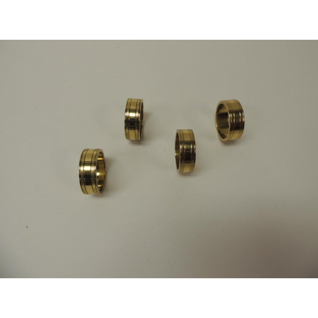 1990s Set of '4' Solid Brass Ralph Lauren Ribbon Napkin Holders For Sale - Image 5 of 5