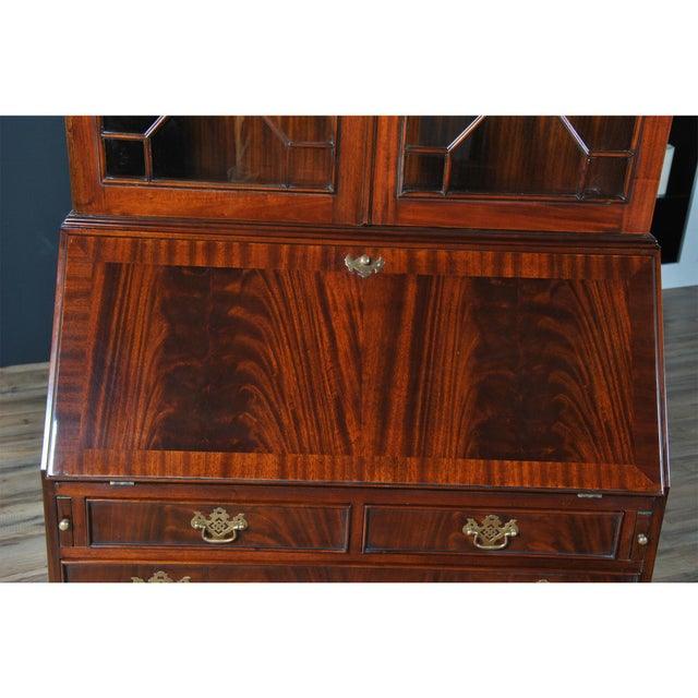 Traditional Mahogany Secretary Desk For Sale - Image 6 of 8