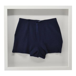Antique Framed Mens Wool Swim Trunks / Suit For Sale