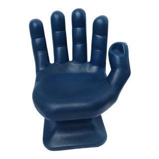 1970s Pop Art Blue Plastic Hand Chair