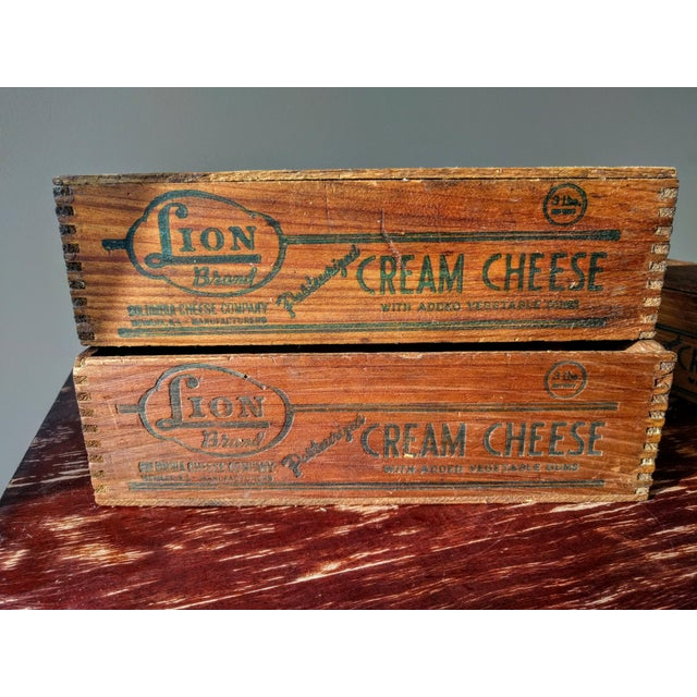 Vintage Wooden Cheese Boxes - Set of 3 For Sale - Image 4 of 10