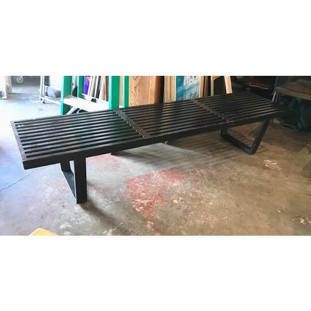 Incredible George Nelson Herman Miller Black Nelson Bench Theyellowbook Wood Chair Design Ideas Theyellowbookinfo