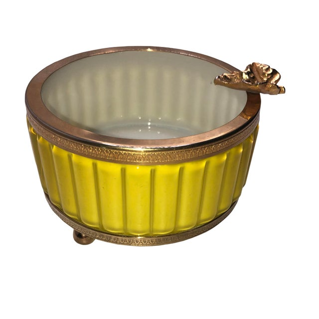 Yellow Antique Murano Yellow Ashtray For Sale - Image 8 of 8