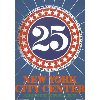 New York City Center Silkscreen by Robert Indiana For Sale