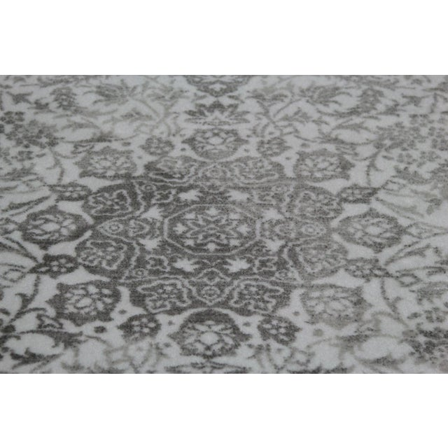 "Distressed Medallion Silver Gray Rug - 8' x 10'7"" - Image 5 of 8"