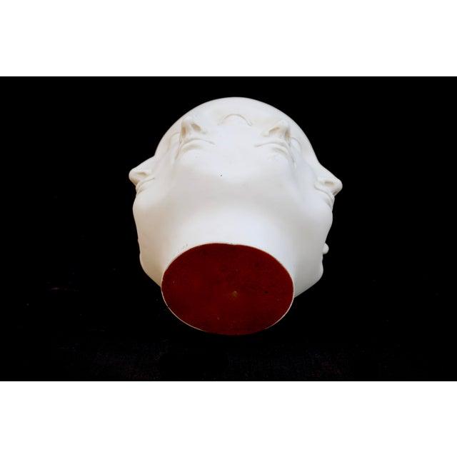 Original Tms 2005 Vitruvian Fornasetti Style Perpetual Face Vase Dora Maar Head Planter For Sale - Image 9 of 13