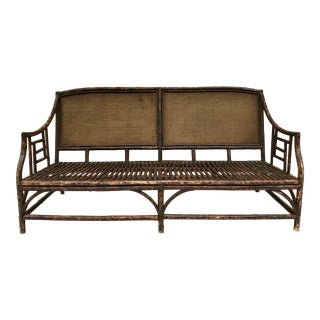Antique Bamboo Sofa Settee For Sale