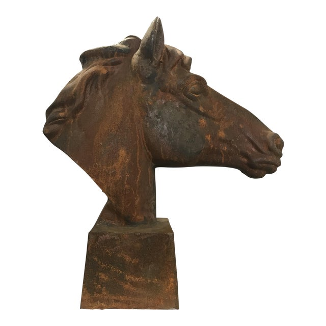 Life Size Cast Iron Horse Head For Sale