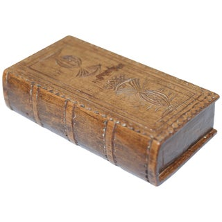 18th Century George III Wooden Snuff Box For Sale