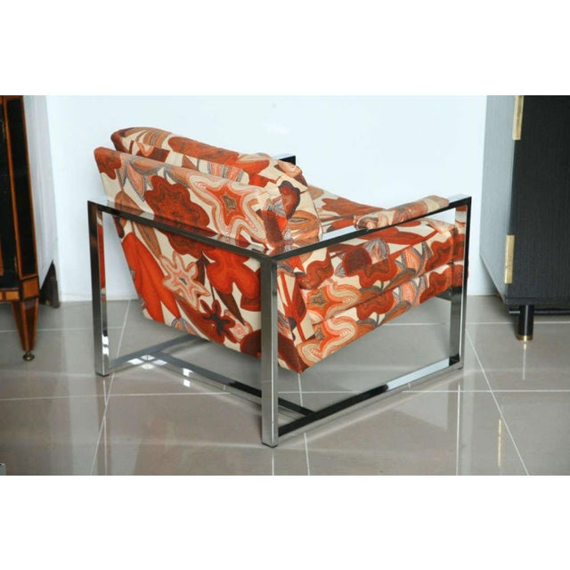 A Pair of Milo Baughman Polished Chrome Club Chairs For Sale In Miami - Image 6 of 9