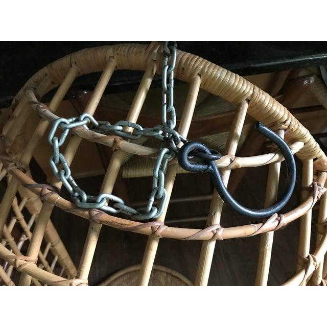 Vintage Hanging Rattan Egg Chair - Image 5 of 7