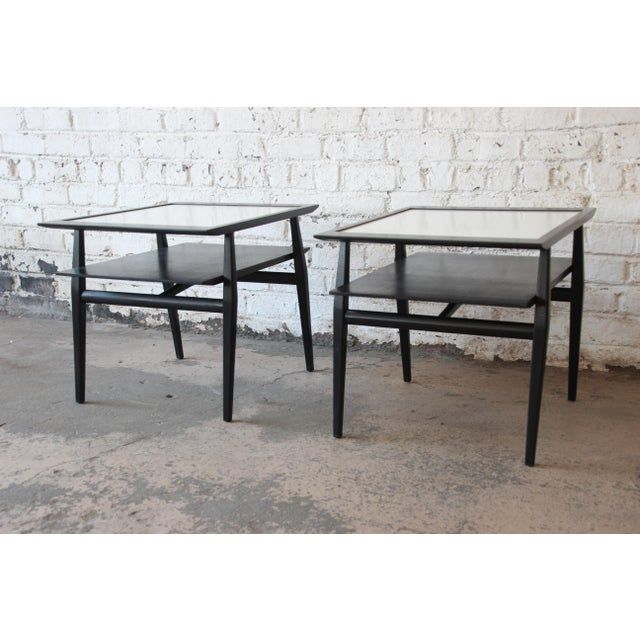 Bertha Schaefer for Singer & Sons Ebonized Mid-Century Modern End Tables- A Pair For Sale - Image 13 of 13